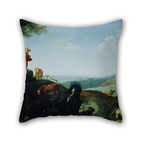 [16 X 16 Inches / 40 By 40 Cm Oil Painting Cornelis Van Poelenburch - Landscape With The Flight To Egypt Throw Cushion Covers,two Sides Is Fit For Play Room,car Seat,couch,kids] (Vintage Halloween Costumes From The 80s)