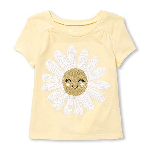 - The Children's Place Baby Girls Short Sleeve Graphic Knits, English Daisy, 5T
