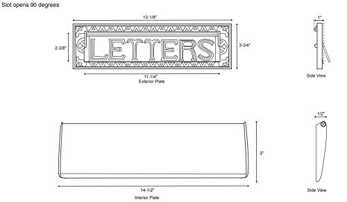 Naiture 13'' Heavy Duty''Letters'' Mail Slot in Antique Brass by SH (Image #2)