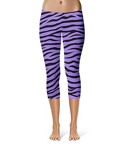Tuta Print Fit Purple Classiche Fashion Stretch Donna Pantaloni Allenamento Capri Sportivi Donne Leggings Slim Zebra Da Sport Fitness qxSRASw6