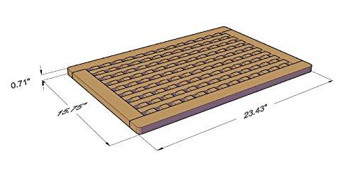 The Original Teak Grate Bath Shower Mat by AquaTeak (Image #2)
