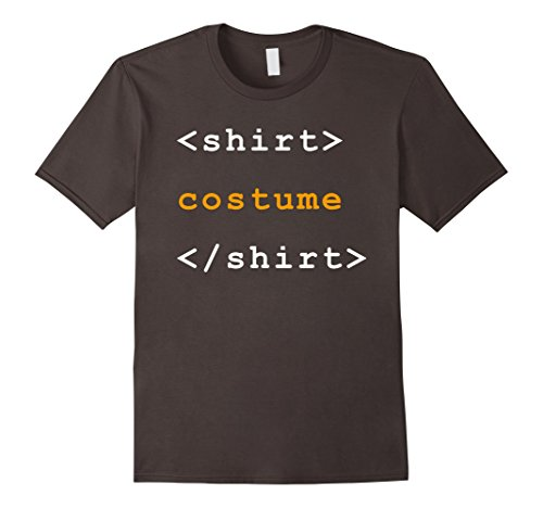 Men's HTML Tags Clever Halloween Costume Funny Tshirt Medium (Funny Clever Halloween Costumes)