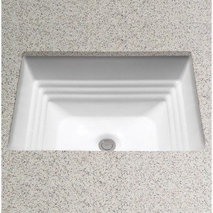 (Toto LT533#11 Promenade 20-1/2-Inch by 16-1/2-Inch Undercounter Lavatory Sink, Colonial White)