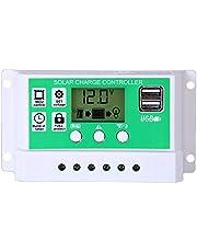 Lopbinte Solar Charge Controller 12V / 24V Automatic Solar Panel Charge Controller, Solar Regulator Lithium Dual USB