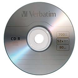Verbatim Cd-r 700mb 80 Minute 52x Recordable Disc - 100 Pack Spindle 1