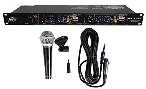 Peavey PV 23XO 2-Way Stereo/3Way Mono Crossover+Samson Microphone+Cable+Clip by Peavey
