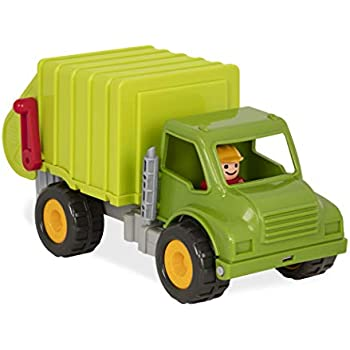 FunLittleToy Garbage Truck Toy Car with 4 Garbage Cans and Back Dump for Boys