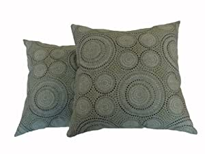 Amazon.com: Newport Layton Home Fashions 2-Pack KE20 Indoor/Outdoor Pillows, Enterprise, Spa ...