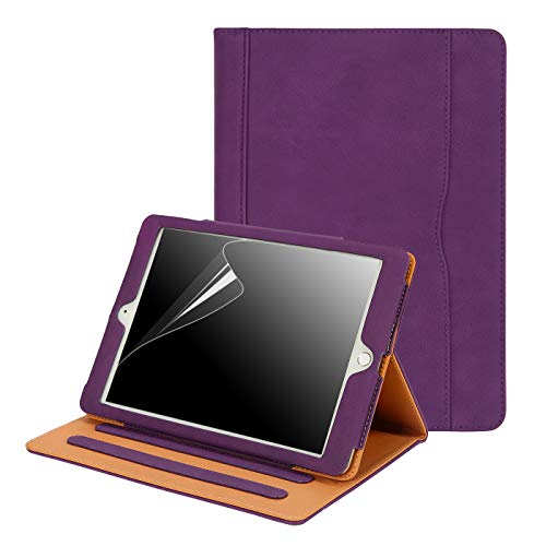 HDE Case for iPad 9.7 2018 2017 Leather Case with Screen Protector - Professional Folio Cover with Smart Magnetic Closure, Multiple Viewing Angles and Pocket for Apple iPad 6th 5th Generation