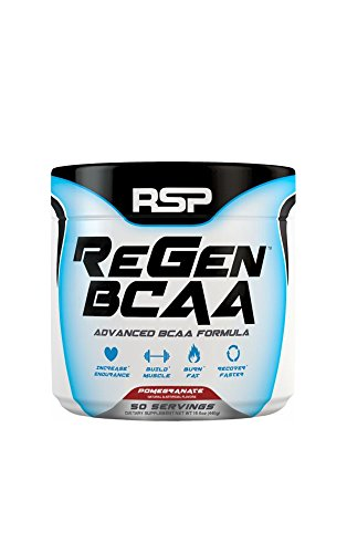 RSP Nutrition 50 Servings Regen BCAA Post Workout & Recovery Supplement, Pomegranate, 15.5 Ounce