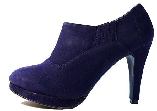 Elegante halbhohe Stiletto Pumps High Heels Stiefel zum Schnüren, braun,  pink   rot, 5613bc59bb