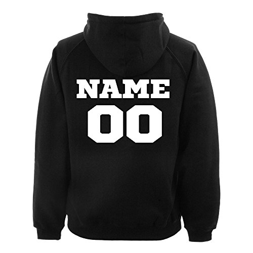 Men's Personalized Athletic Sports Team Black Pullover Hoodie Sweater Small Black