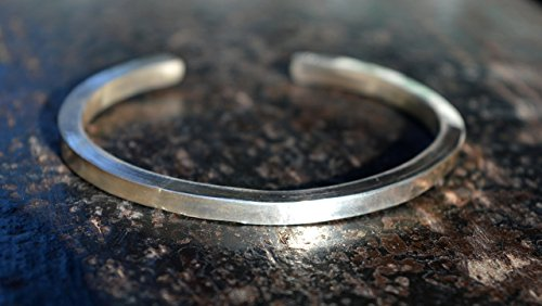 4 GAUGE THICK sterling silver bracelet,handmade silver cuff bracelet, thicksilver bracelet,silver 925 bracelet,unique ,modern,minimalist,unisex bracelet,mens bracelet by siledu