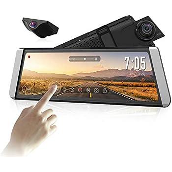 Parking Mode Loop Recording LDWS G-Sensor AUTO-VOX X1 9.88 Mirror Dash Cam Stream Media Dual Dash Cam AHD Reversing Camera Kit Front and Rear Dash Cam with Night Vision GPS