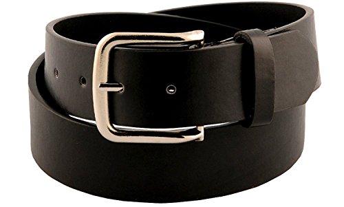 Womens Classic Smooth Faux Leather Belt Black Medium -