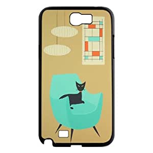 SOPHIA Phone Case Of cute retro cat Cartoon Cool Painting For Samsung Galaxy Note 2 N7100