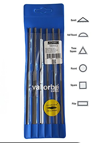 Certified Swiss Made - VALLORBE SWISS MADE NEEDLE FILES CUT 2 / 180mm Jewelers File Set