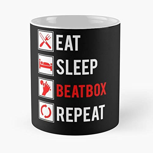 Eat Sleep Beatbox Repeat Beatboxing Vocal Percussion Drum Machine Instrument Music Best Gifts