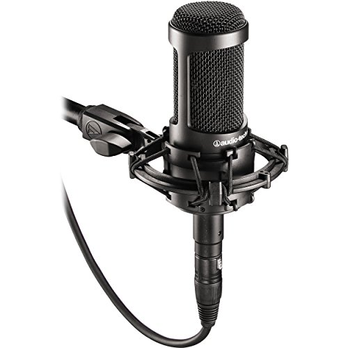 Audio-Technica AT2035 Large Diaphragm Studio Condenser Microphone Bundle with Shock Mount, Pop Filter, and XLR Cable - Image 2