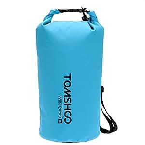 TOMSHOO Bolsas Estancas Impermeable 10L/20L Bolsa Seca+ Caja de Teléfono (Opcional) para Playa Rafting Navegación Kayak Bucear Canotaje Camping