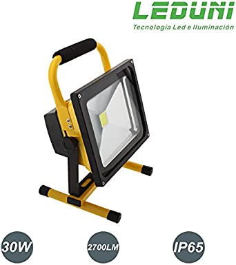 LEDUNI ® Foco Proyector LED 30W Portátil Exterior Para ...