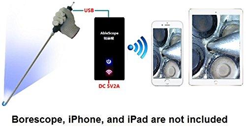 (Vividia Ablescope VA-B2 WiFi AirBox USB to WiFi Converter for iPhones/iPad for USB Digital Borescopes and)
