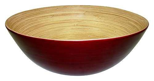 Simply Bamboo Glossy Mahogany Bamboo (Painted Wood Bowl)