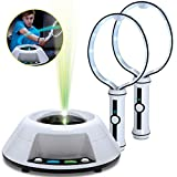 Sharper Image Virtual Toy Ping Pong Game Set, Features Built in Light Up Ball/Integrated Sound Effects, Keeps Track of Hits, Misses, Wins, and Scores, Solo/Two Player Action, Great Gift for Children