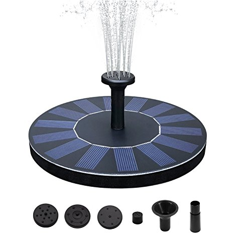 SENLUO Solar Fountain,Solar Powered Bird Bath Fountain Pump 1.4W Solar Panel Kit Water Pump,Outdoor Watering Submersible Pump for Fish Tank,Garden,Pool,Pond,Aquarium by SENLUO