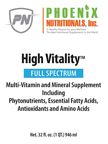41TlkTyw20L - Phoenix Nutritionals High Vitality Natural Liquid & Vitamin Mineral Supplement, High Energy, Anti-Aging Formula, Mixed Fruit Flavor, Gluten Free, Sugar Free, Highly Absorbable