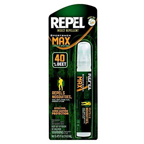 Sportsmen Max Formula Insect Repellent, .475oz Pen Size Pump Spray, 40% DEET