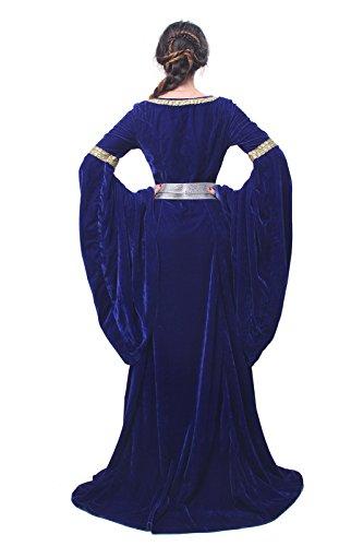 Maxi Kleid Nuoqi Party Damen Königin NI Kostüm FBA Mittelalterliche Langarm Kleid GC209B qpFprX