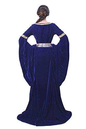 Kostüm Kleid GC209B FBA Nuoqi Party Königin Damen Langarm Kleid NI Maxi Mittelalterliche xx7Hwt8
