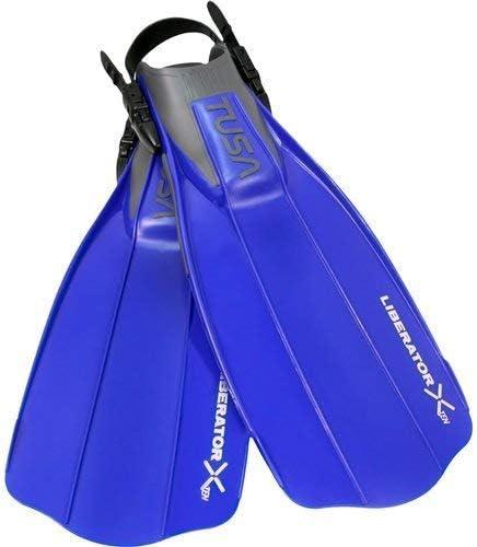 TUSA Liberator X-Ten Open Heel Non-Vented Snorkel Fins COBALT BLUE S,Regular