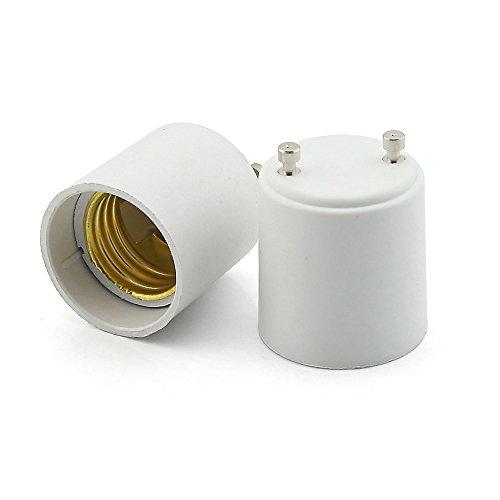 Owfeel Pack of 2 White GU24 To E27 LED Light Lamp Bulb Adapter Holder Socket Converter