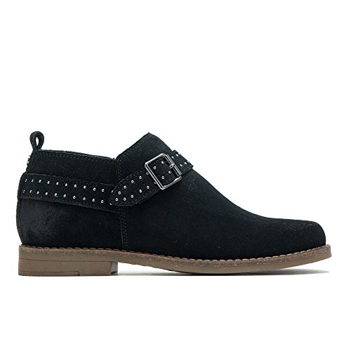 (Hush Puppies Cayto Studded Belt Women 7 Black Suede)