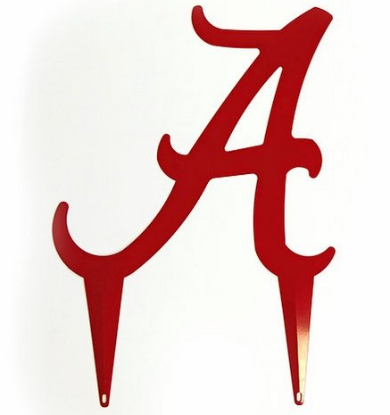 University of Alabama Logo Yard At in Red- Officially Licensed by NCAA (24) ()