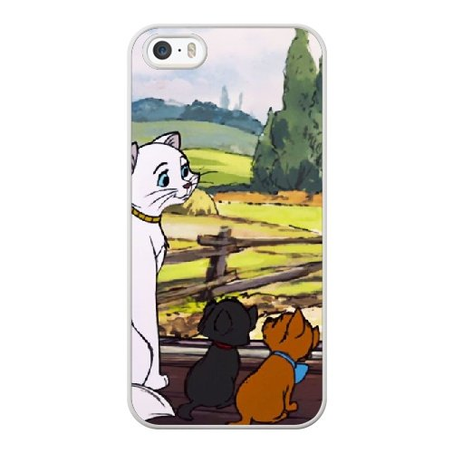 Coque,Apple Coque iphone 5/5S/SE Case Coque, Generic Aristocats Cover Case Cover for Coque iphone 5 5S SE blanc Hard Plastic Phone Case Cover