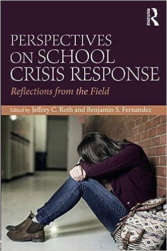 Perspectives On School Crisis Response Benjamin S Fernandez