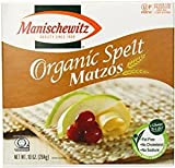 Manischewitz Organic Spelt Matzo Crackers KFP 10 Oz. Pack Of 6.