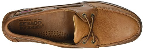 Tan Zapatos Marrón Hombre Leather para Sebago Tumbled Schooner Pw8Xzz