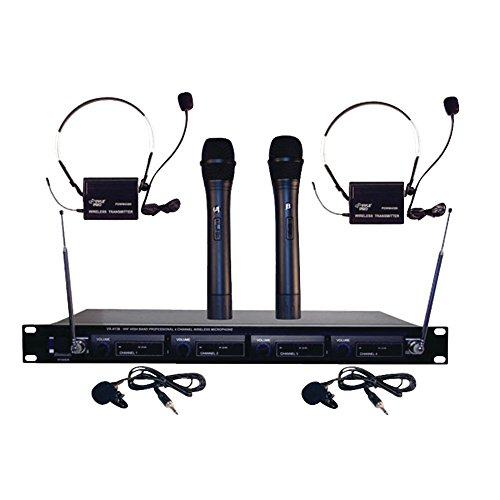 Pyle Pro Pyle Gear (Pyle Pro Pdwm4300 4-Microphone Vhf Wireless Rack-Mount Microphone System 20.90in. x 12.20in. x 5.10in.)