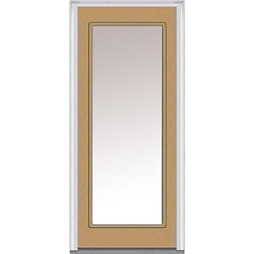 National Door ZA04817R Steel, Painted, Right Hand Inswing, Exterior Prehung Door, Full Lite, Clear Glass, 36