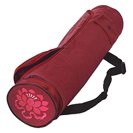 Amazon.com : Lotus Design Sac pour tapis de yoga Rouge Rouge ...