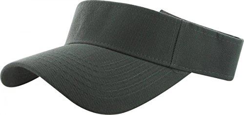 Dark Grey_Plain Visor Sun Cap Hat Men Women Sports Golf Tennis Beach New Adjustable (US Seller) (Chevy Belt Buckle Rebel Flag compare prices)