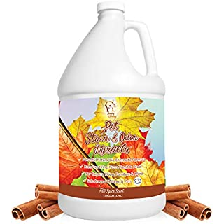 Pet Stain & Odor Miracle - Enzyme Cleaner for Dog and Cat Urine, Feces, Vomit, Drool (Fall Spice Scent, 1 Gallon)