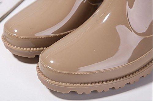 Botas de lluvia del arco de las muchachas del otoño y del invierno botas de lluvia suave estupendo impermeable anti - Zapatas antideslizantes botas de lluvia dulce salvajes Amarillo