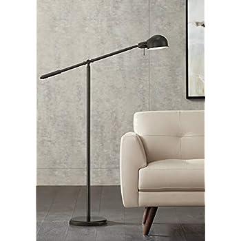 Admiral Modern Pharmacy Floor Lamp Satin Nickel Adjustable