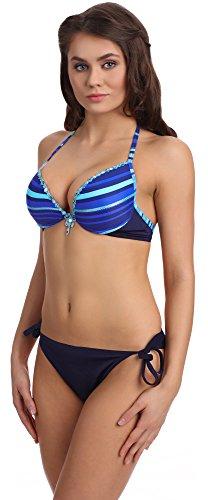 Antie Bikini Conjunto para mujer Sumatra Azul/Navy-2
