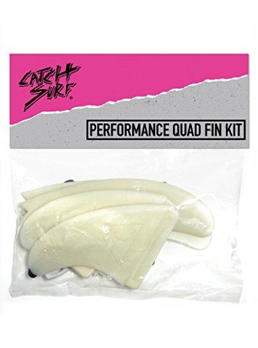 (Catch Surf Hi-Perf Quad Fin Set, Natural)
